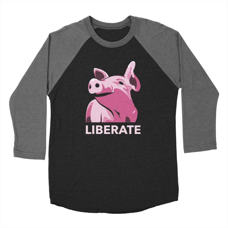Liberate! (Pig) Women's Baseball Triblend T-Shirt by trekvix's Artist Shop