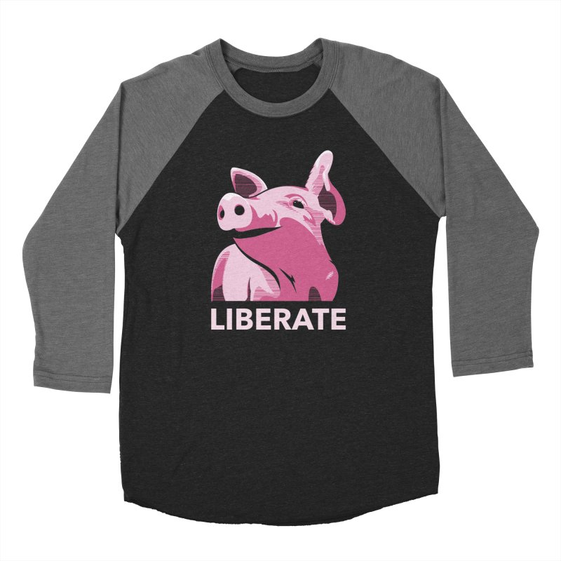 Liberate! (Pig) Men's Baseball Triblend T-Shirt by trekvix's Artist Shop