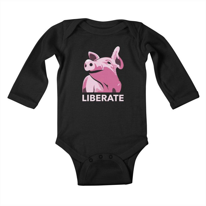 Liberate! (Pig) Kids Baby Longsleeve Bodysuit by trekvix's Artist Shop