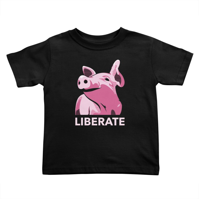 Liberate! (Pig) Kids Toddler T-Shirt by trekvix's Artist Shop
