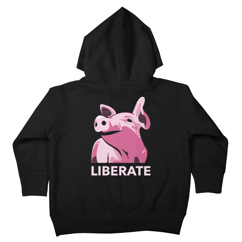 Liberate! (Pig) Kids Toddler Zip-Up Hoody by trekvix's Artist Shop