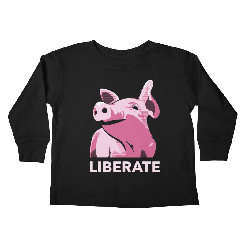 Liberate! (Pig) Kids Toddler Longsleeve T-Shirt by trekvix's Artist Shop
