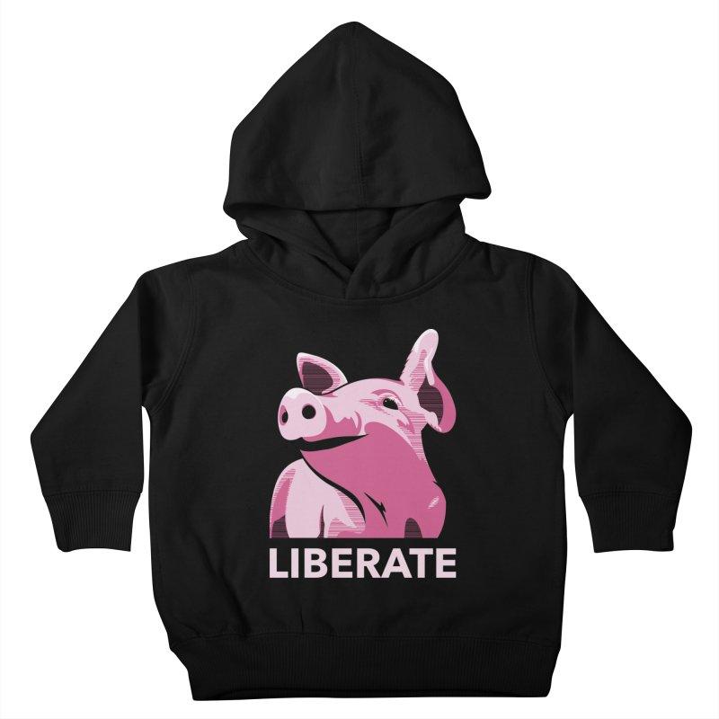 Liberate! (Pig) Kids Toddler Pullover Hoody by trekvix's Artist Shop