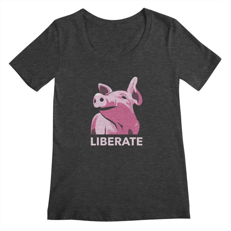 Liberate! (Pig) Women's Scoopneck by trekvix's Artist Shop