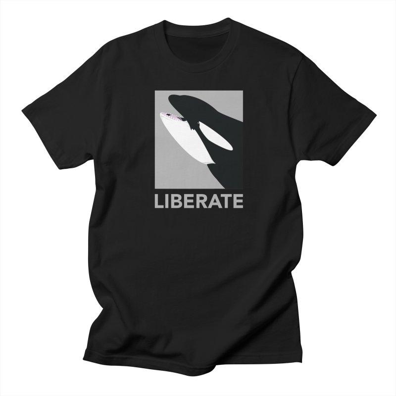 Liberate! (Orca) Men's T-Shirt by trekvix's Artist Shop