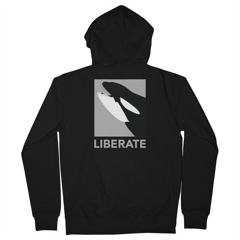 Liberate! (Orca) Men's Zip-Up Hoody by trekvix's Artist Shop