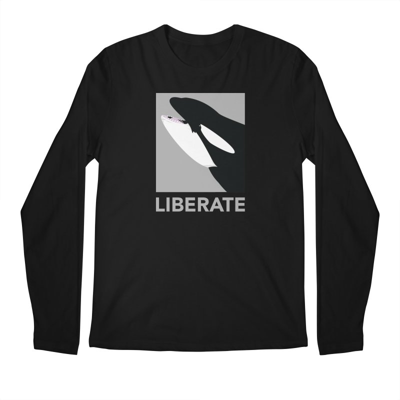 Liberate! (Orca) Men's Longsleeve T-Shirt by trekvix's Artist Shop