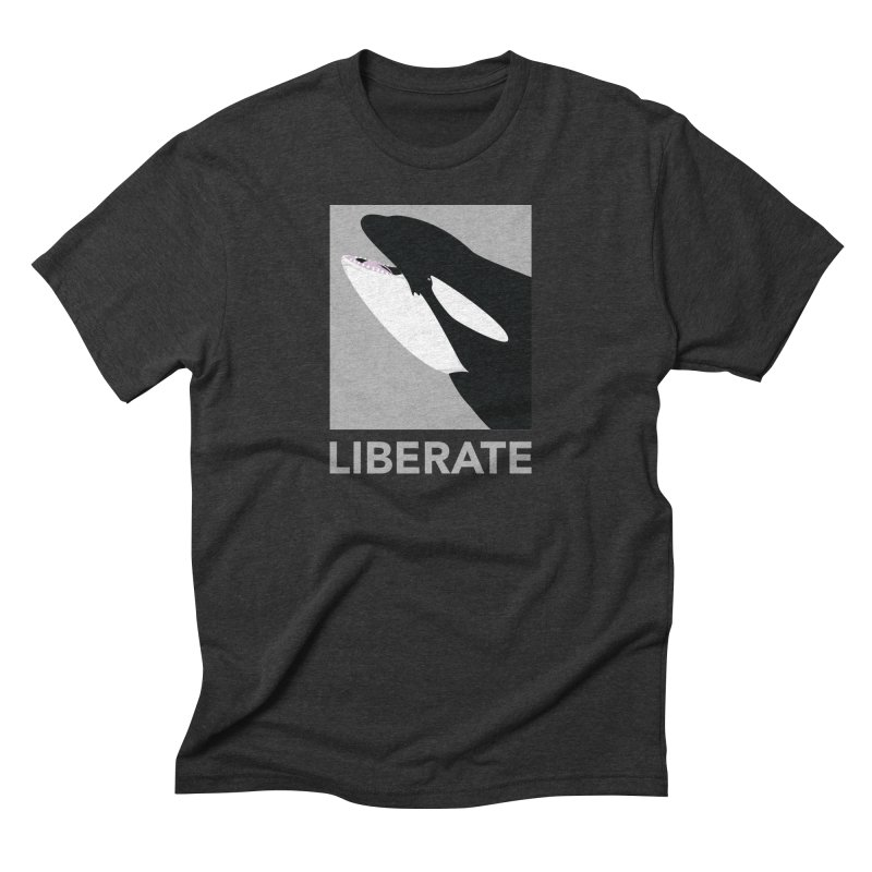 Liberate! (Orca) Men's Triblend T-Shirt by trekvix's Artist Shop