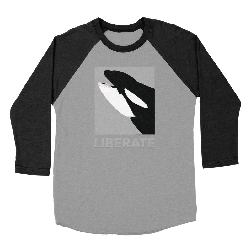 Liberate! (Orca) Women's Baseball Triblend T-Shirt by trekvix's Artist Shop