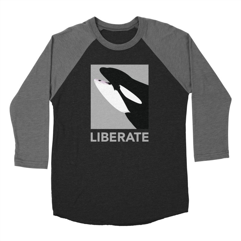 Liberate! (Orca) Men's Baseball Triblend T-Shirt by trekvix's Artist Shop