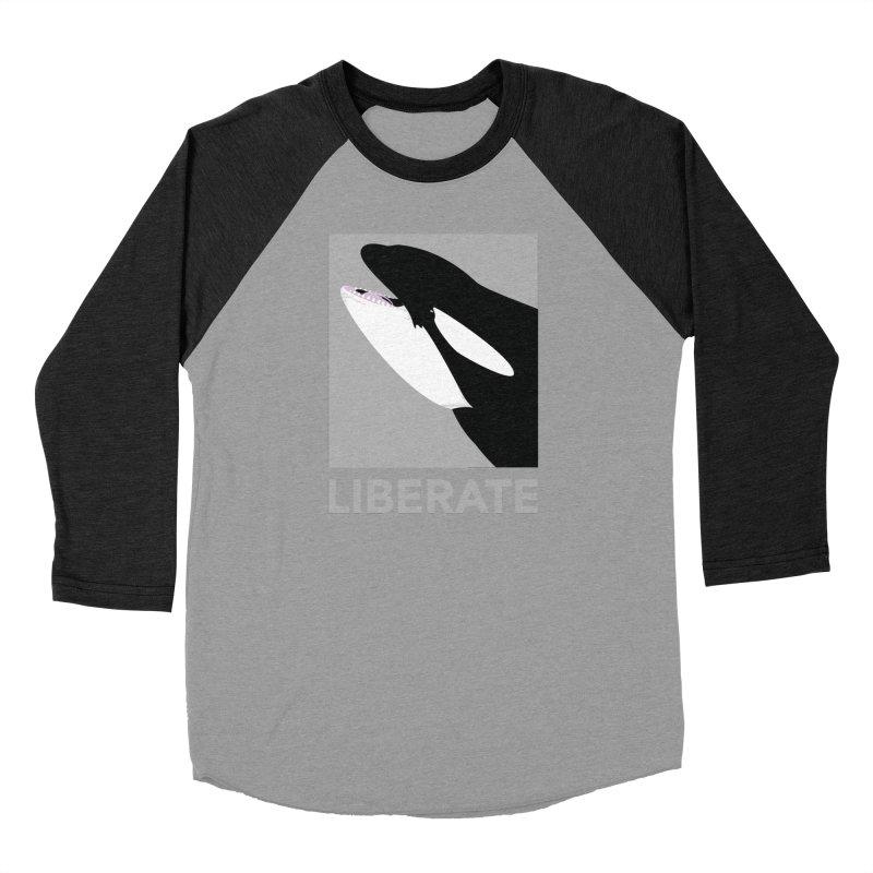 Liberate! (Orca) Men's Baseball Triblend T-Shirt by trekvix's Artist Shop