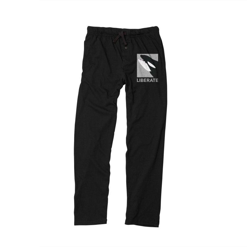 Liberate! (Orca) Men's Lounge Pants by trekvix's Artist Shop
