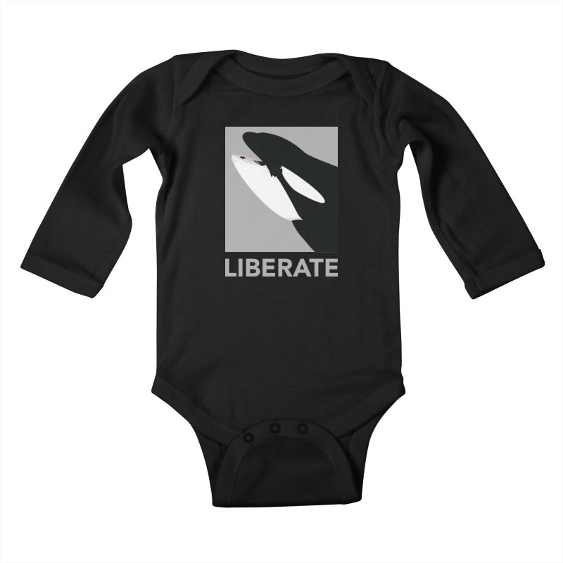 Liberate! (Orca) Kids Baby Longsleeve Bodysuit by trekvix's Artist Shop
