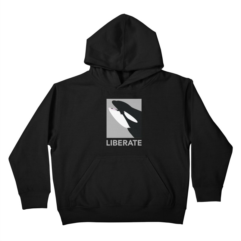 Liberate! (Orca) Kids Pullover Hoody by trekvix's Artist Shop