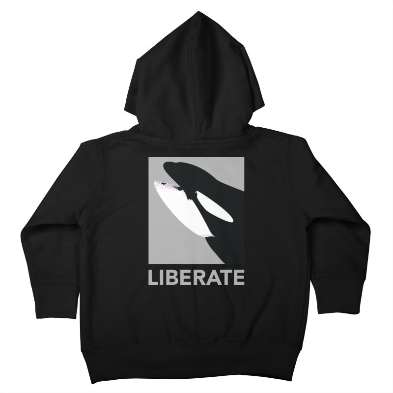 Liberate! (Orca) Kids Toddler Zip-Up Hoody by trekvix's Artist Shop