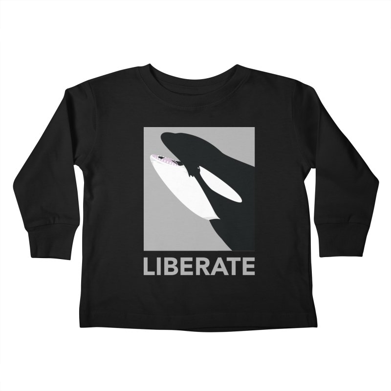 Liberate! (Orca) Kids Toddler Longsleeve T-Shirt by trekvix's Artist Shop