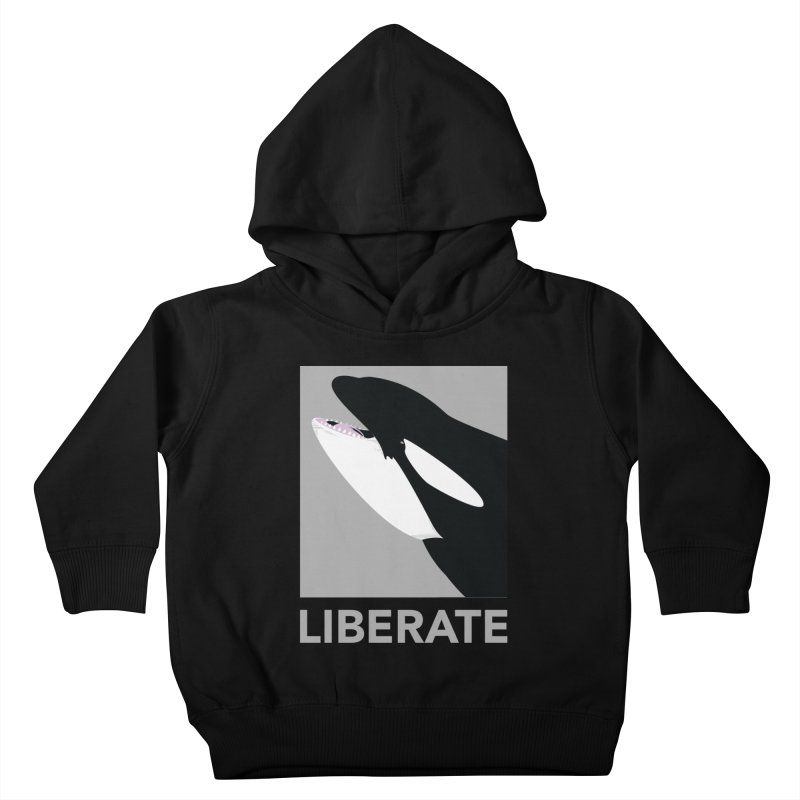 Liberate! (Orca) Kids Toddler Pullover Hoody by trekvix's Artist Shop