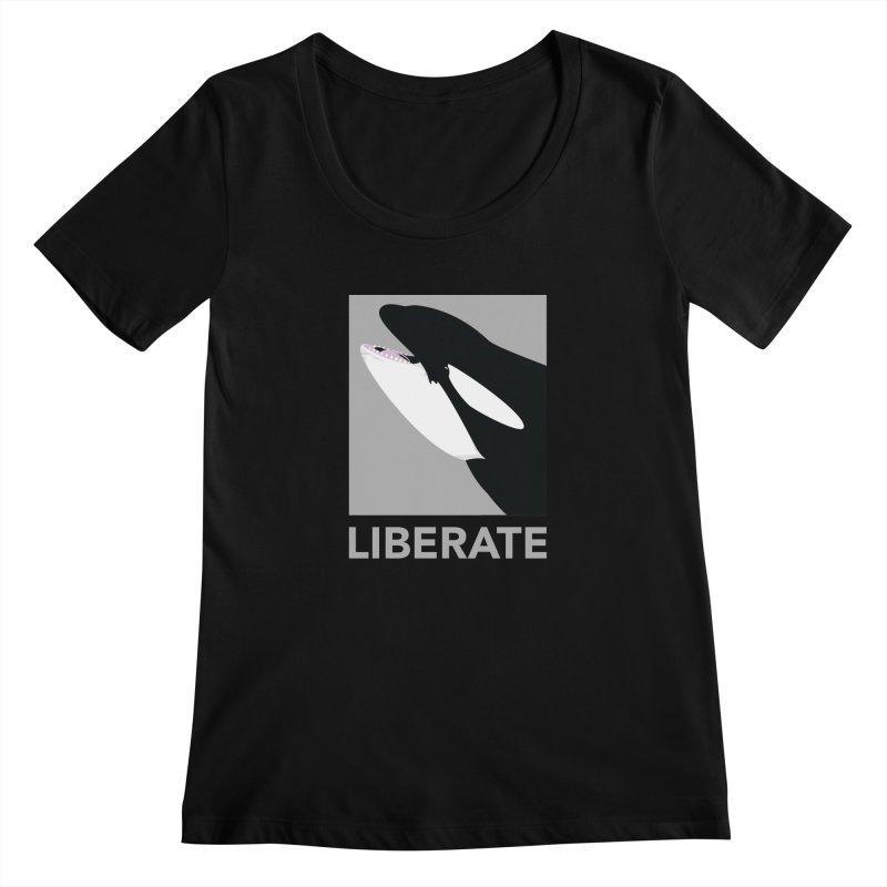 Liberate! (Orca) Women's Scoopneck by trekvix's Artist Shop