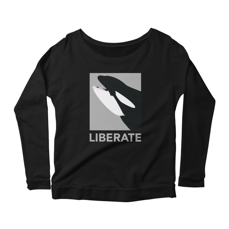 Liberate! (Orca) Women's Longsleeve Scoopneck  by trekvix's Artist Shop