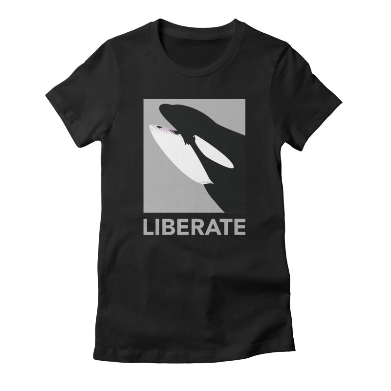Liberate! (Orca) Women's Fitted T-Shirt by trekvix's Artist Shop