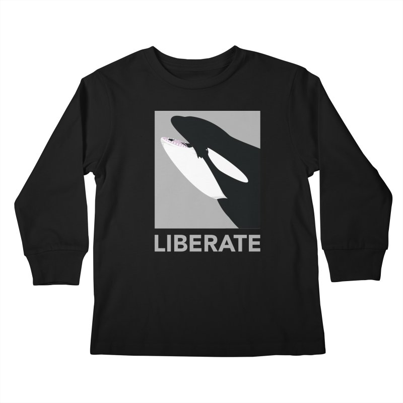 Liberate! (Orca) Kids Longsleeve T-Shirt by trekvix's Artist Shop