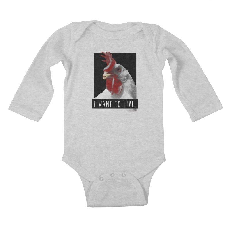 I Want To Live Kids Baby Longsleeve Bodysuit by trekvix's Artist Shop