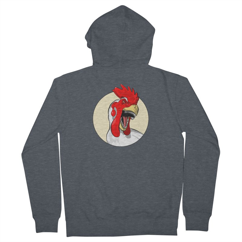 Chickens are Dinosaurs Men's Zip-Up Hoody by trekvix's Artist Shop