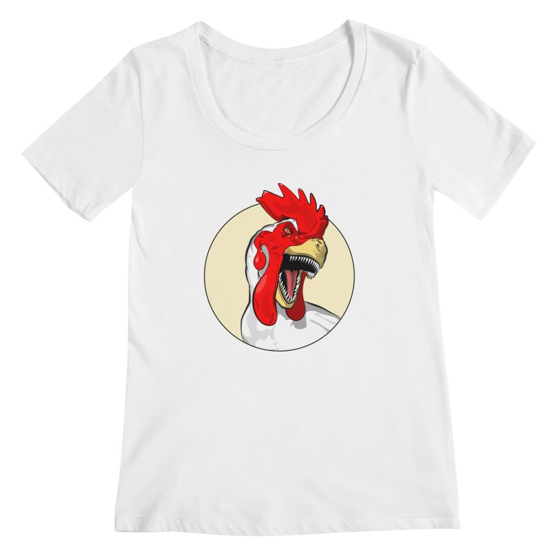 Chickens are Dinosaurs Women's Scoopneck by trekvix's Artist Shop