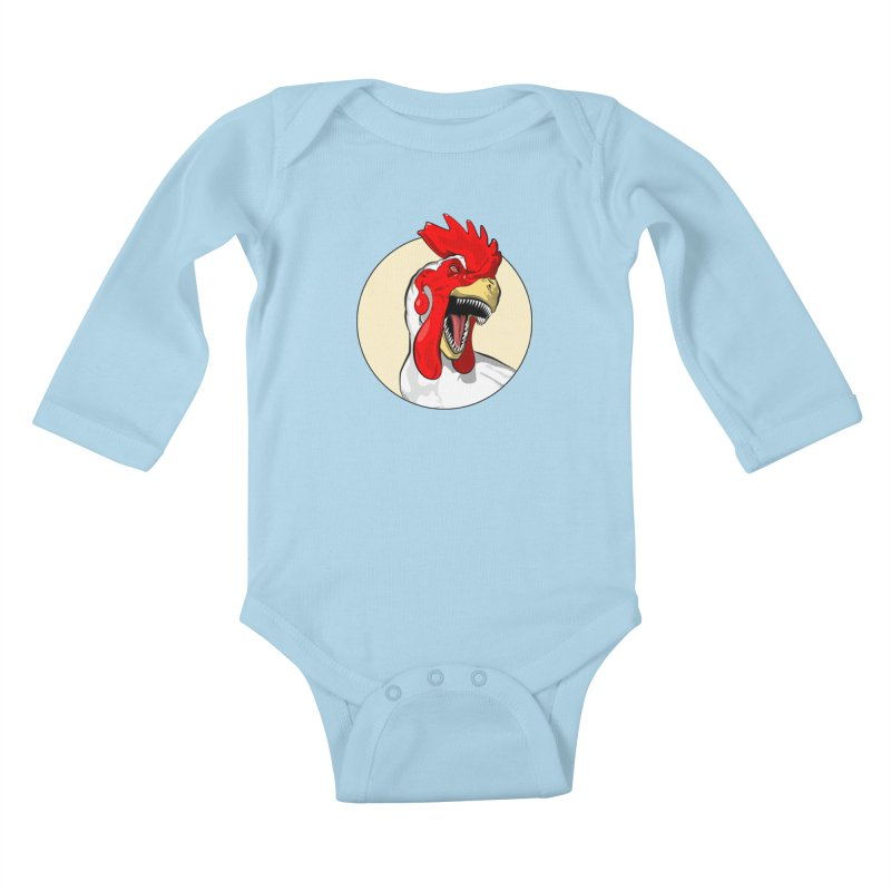 Chickens are Dinosaurs Kids Baby Longsleeve Bodysuit by trekvix's Artist Shop
