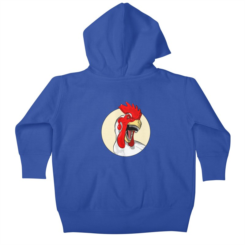 Chickens are Dinosaurs Kids Baby Zip-Up Hoody by trekvix's Artist Shop
