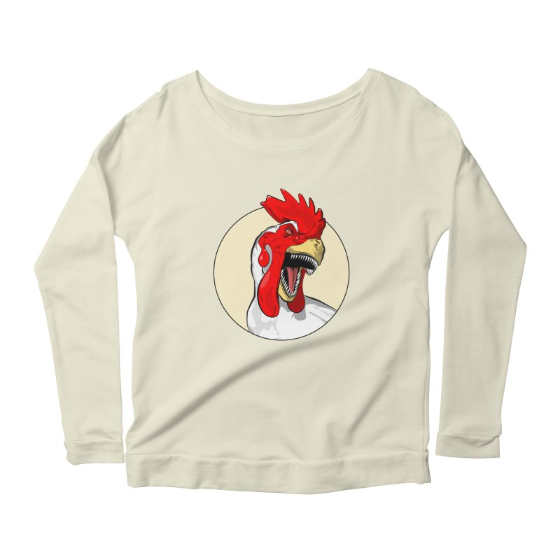 Chickens are Dinosaurs Women's Longsleeve Scoopneck  by trekvix's Artist Shop