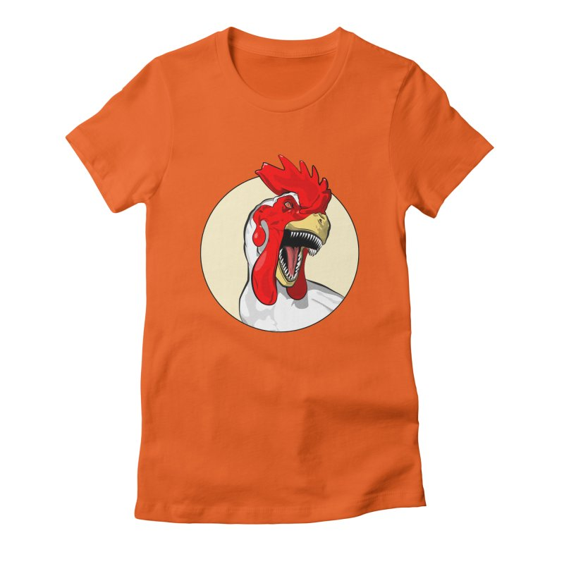 Chickens are Dinosaurs Women's Fitted T-Shirt by trekvix's Artist Shop