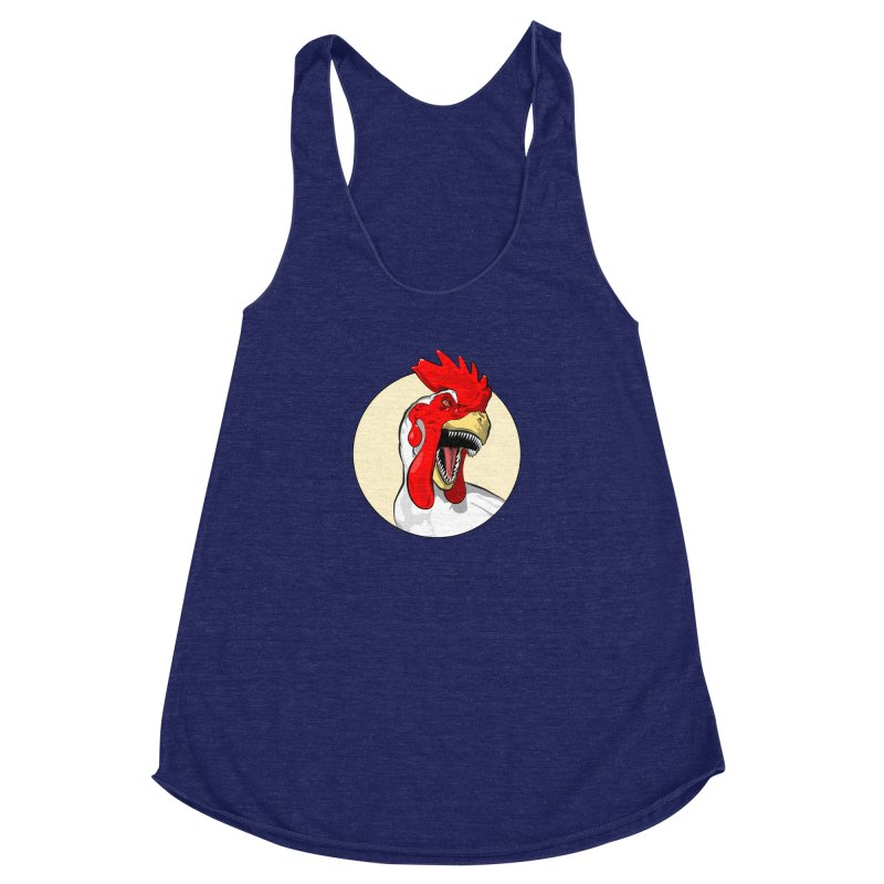 Chickens are Dinosaurs Women's Racerback Triblend Tank by trekvix's Artist Shop