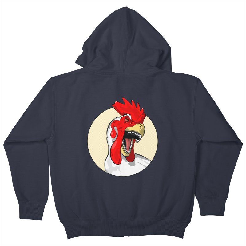 Chickens are Dinosaurs Kids Zip-Up Hoody by trekvix's Artist Shop