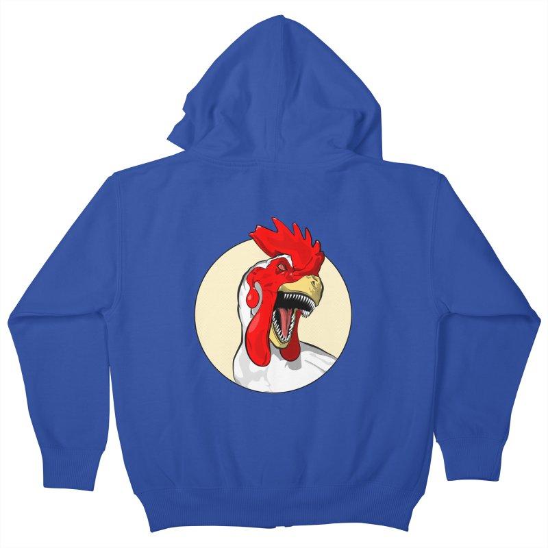 Chickens are Dinosaurs Kids Zip-Up Hoody by trekvix's Artist Shop