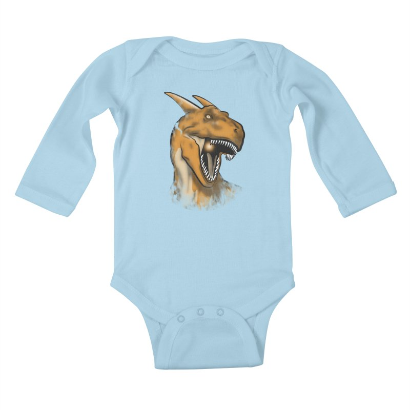 Charisaurus Rex Kids Baby Longsleeve Bodysuit by trekvix's Artist Shop