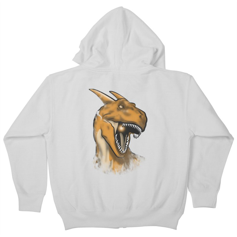 Charisaurus Rex Kids Zip-Up Hoody by trekvix's Artist Shop