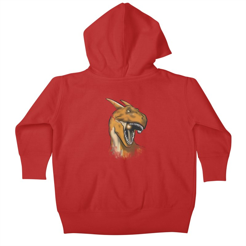 Charisaurus Rex Kids Baby Zip-Up Hoody by trekvix's Artist Shop