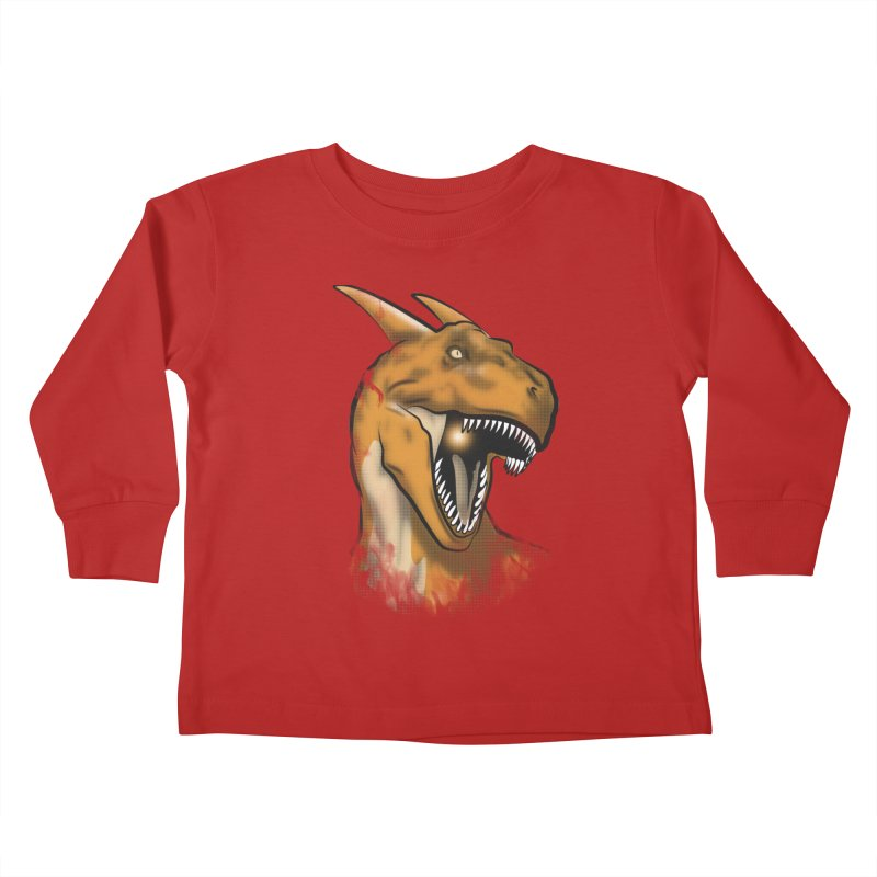 Charisaurus Rex Kids Toddler Longsleeve T-Shirt by trekvix's Artist Shop