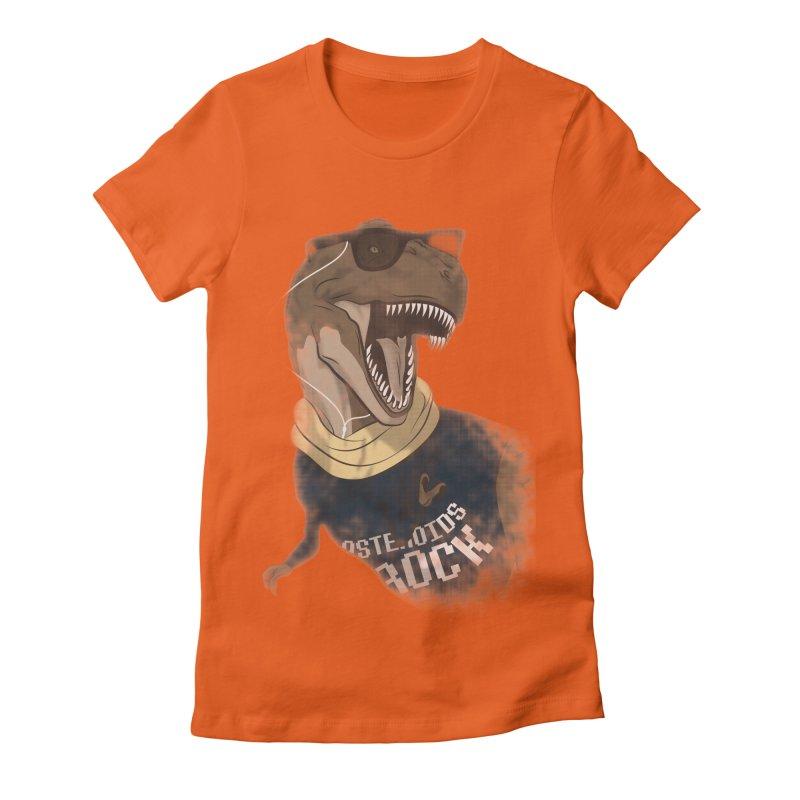 Hipstereosaurus Rex Women's Fitted T-Shirt by trekvix's Artist Shop