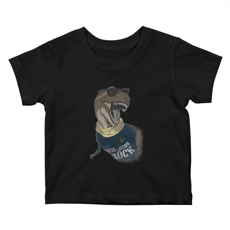 Hipstereosaurus Rex Kids Baby T-Shirt by trekvix's Artist Shop