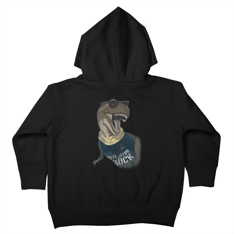 Hipstereosaurus Rex Kids Toddler Zip-Up Hoody by trekvix's Artist Shop
