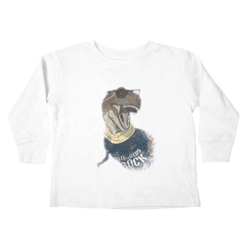Hipstereosaurus Rex Kids Toddler Longsleeve T-Shirt by trekvix's Artist Shop