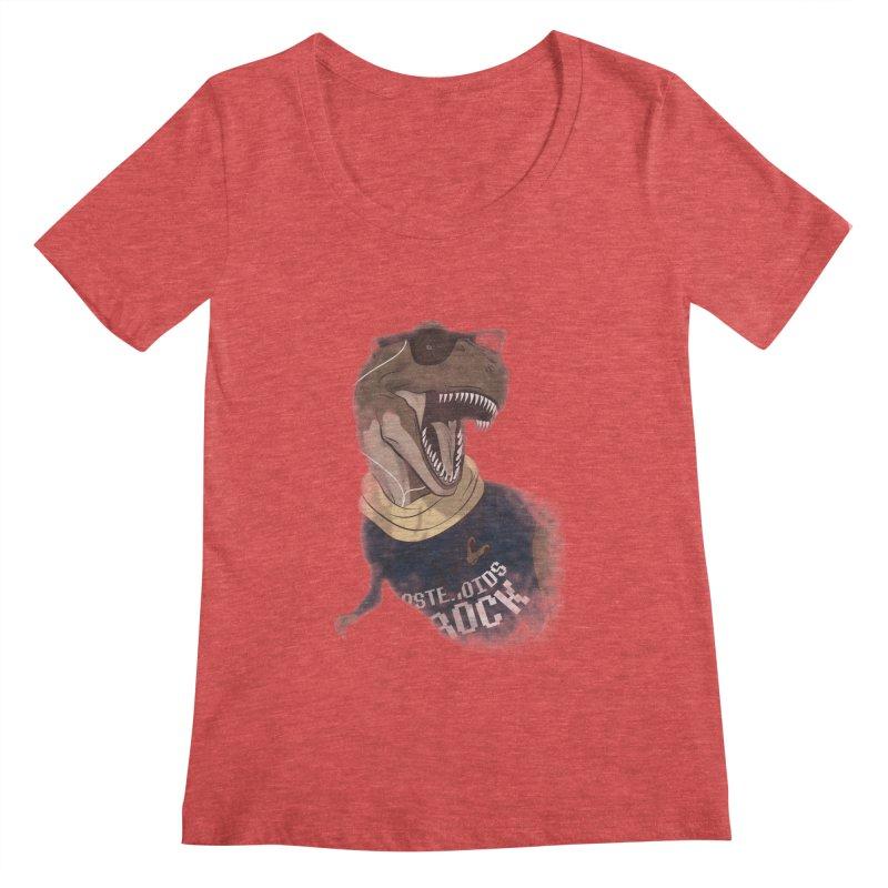 Hipstereosaurus Rex Women's Scoopneck by trekvix's Artist Shop