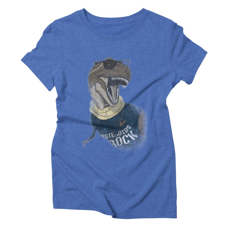 Hipstereosaurus Rex Women's Triblend T-Shirt by trekvix's Artist Shop