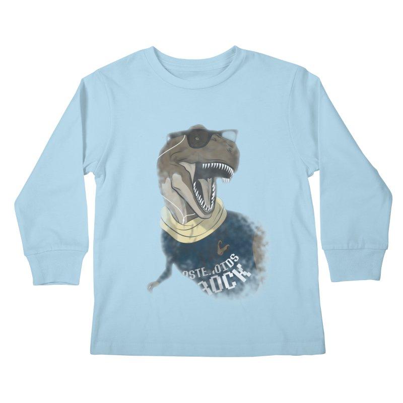 Hipstereosaurus Rex Kids Longsleeve T-Shirt by trekvix's Artist Shop