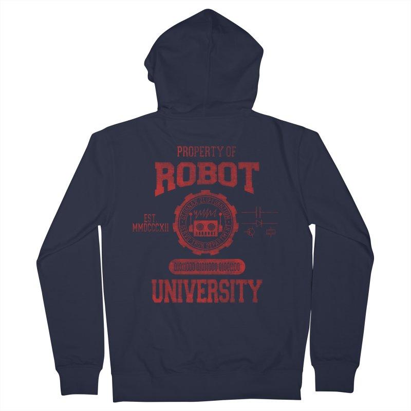 Robot University Women's Zip-Up Hoody by TREVOUR