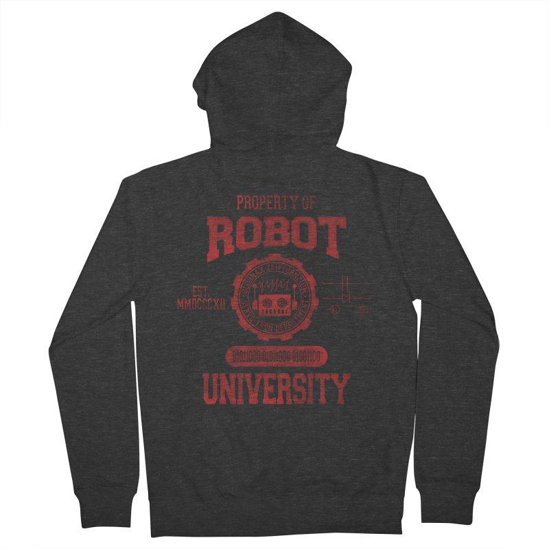 Robot University Men's Zip-Up Hoody by TREVOUR