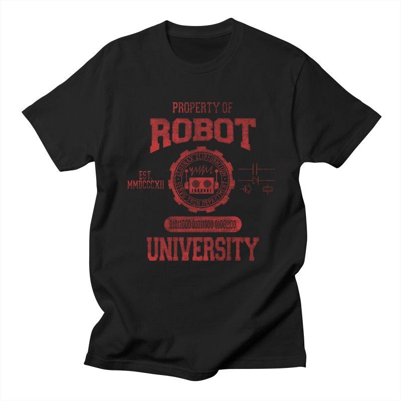 Robot University Men's T-Shirt by TREVOUR