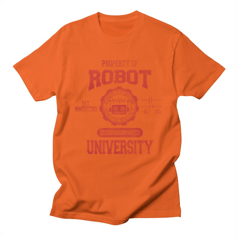 Robot University Men's T-shirt by TREVOUR